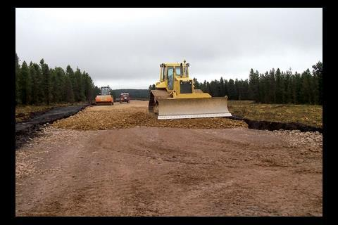 Building nearly 90km of roads through forest has been a big job.